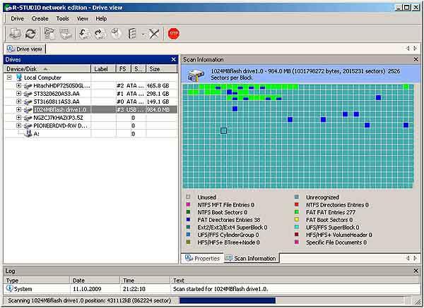 Восстановление данных с флешки - сканирование файловой систем флэшки