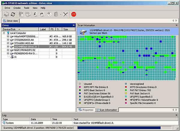 Восстановление данных с флешки - завершение сканирования