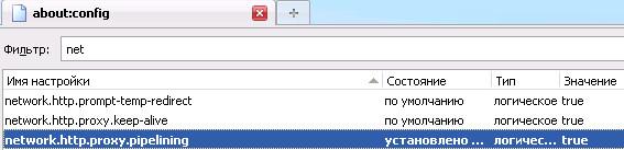 Ускорение Firefox – network.http.proxy.pipelining