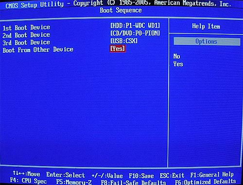 Установка Windows XP - Bios