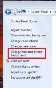 Изменить фон окна приветствия