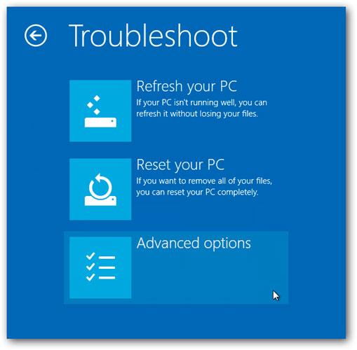 Устранение неполадок - Безопасный режим Windows 8