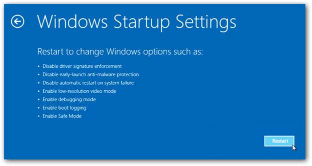 Настройки запуска Windows 8