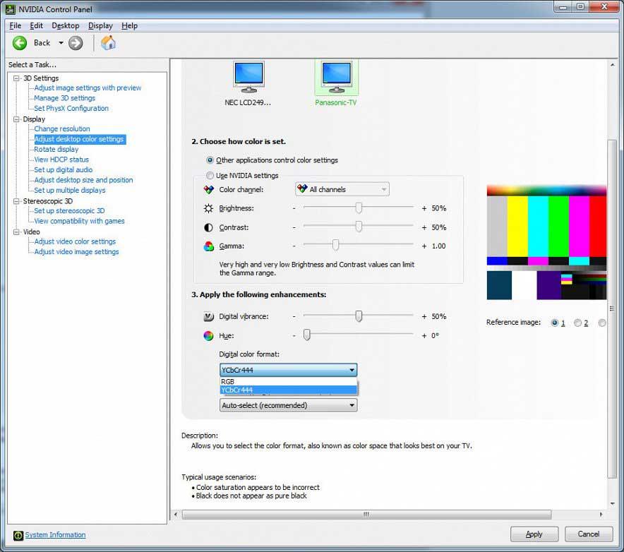 Настройка параметров видеокарты
