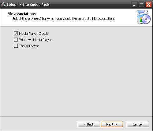 Установка K-Lite Codec Pack - видео-плееры