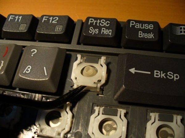 Как вставить клавишу в ноутбуке