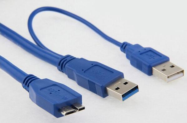 Двойной USB кабель для жесткого диска