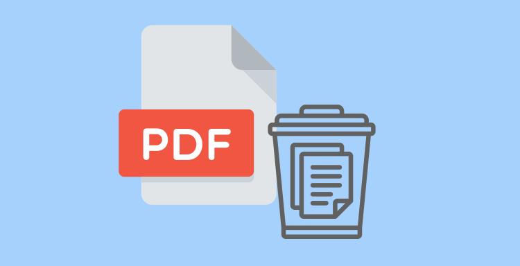 Удалить страницы из PDF